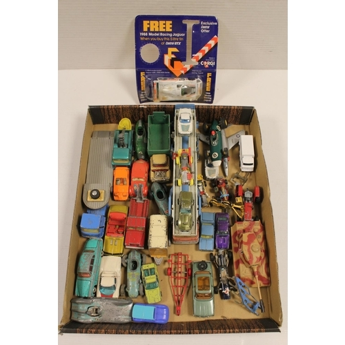 8 - A Collection of 25+ x Playworn Corgi Models from 1960's to 1970's.