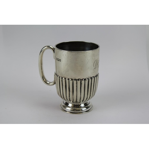 16 - A Silver Half Fluted Christening Mug for Dorothy. marked Sheffield s. Total Weight: 114 grams