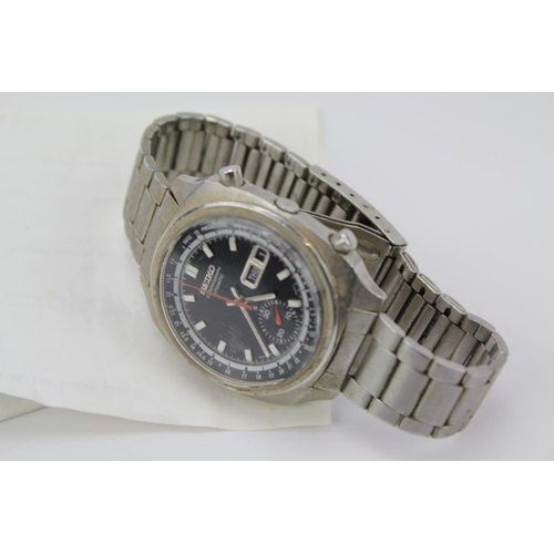 125 - An Early Seiko Gentleman's stainless steel chronographic automatic Wristwatch, No: 6139.