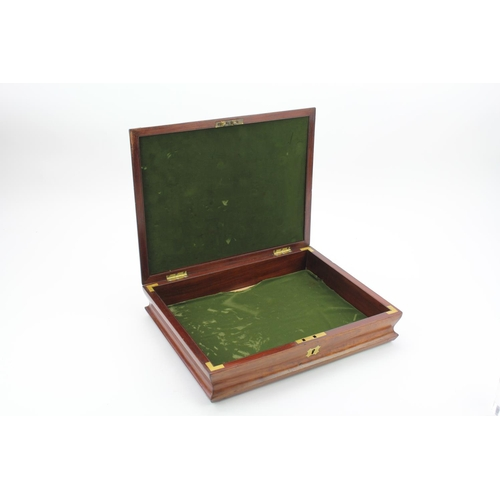 432 - A Victorian Mahogany Dome Topped Cutlery box. Interior size: 37cms x 29cms.