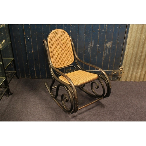 325 - A Late 19th Century Bentwood Rocking Chair after