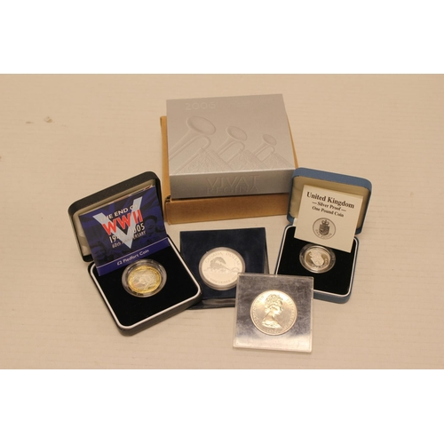 234 - A Collection of Silver Coins to include a 2005 UK Piadfort Silver Proof 60th Anniversary of end of W...