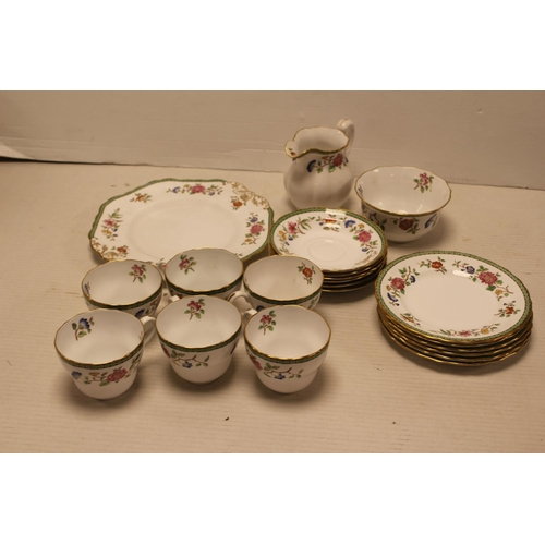 456 - A Spode Copeland China (KORO Pattern) Tea Set consisting of a Sandwich Plate, 6 Side Plates, 6 Sauce...
