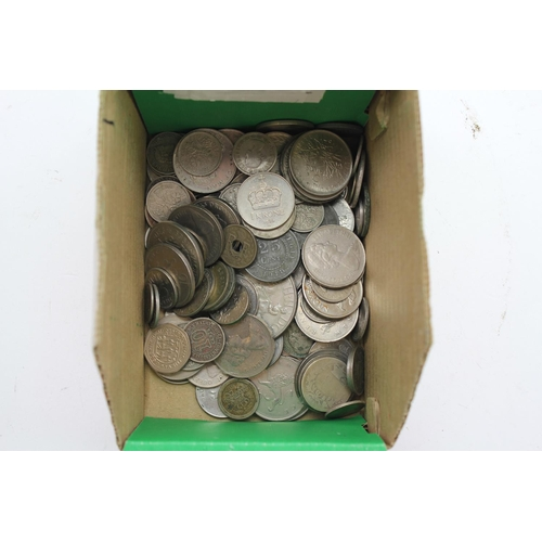 242 - A Collection Cupro-Nickel Coins to include a Number of Foreign Coins, 10p's, Sixpences, etc. (50+).