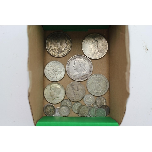 245 - A collection of 20+ Coins to include a Silver Queen Victoria Crown dated 1895, Edward VII Florin, 2 ...