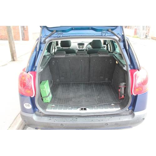 221 - Peugeot 207 Sport SW Estate Petrol  Automatic, June 2008, Dark Blue Metallic/Black Cloth, Glass Roof...