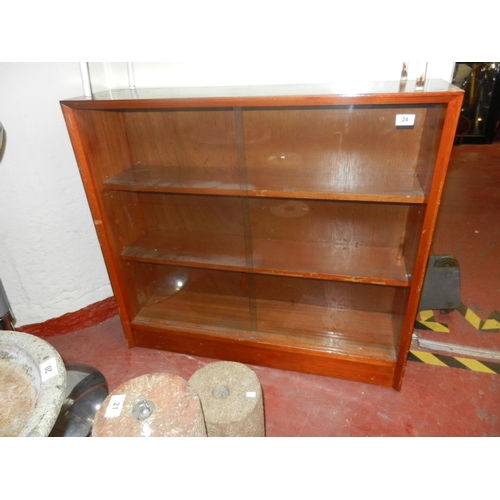 24 - GLASS FRONTED BOOKCASE/DISPLAY...