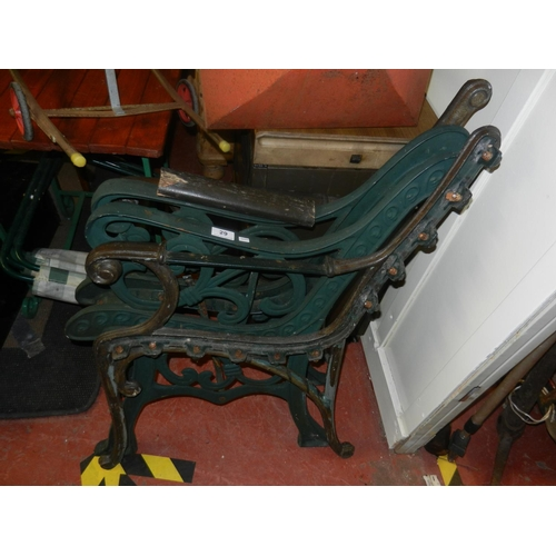 29 - 2 PAIRS OF CAST IRON BENCH ENDS...