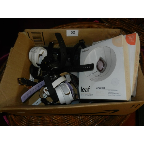52 - BOX OF FIT BITS & WATCHES(A/F)...