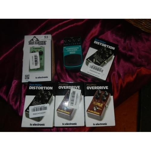 53 - 6 BOXED GUITAR PEDALS(A/F)...