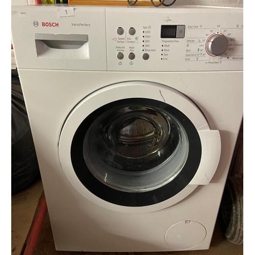 1 - BOSCH WASHING MACHINE (A/F)