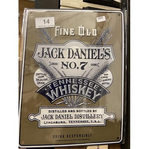 14 - METAL 'JACK DANIEL No7' SIGN