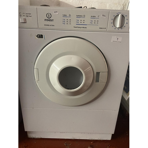 1 - INDESIT REVERSE ACTION TUMBLE DRYER(A/F)