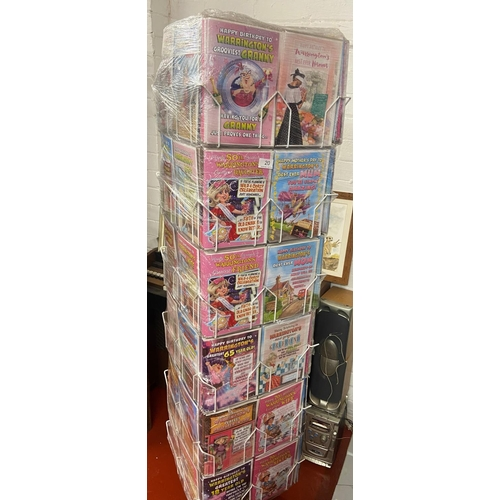 20 - CARD STAND & 'WARRINGTON' GREETINGS CARDS