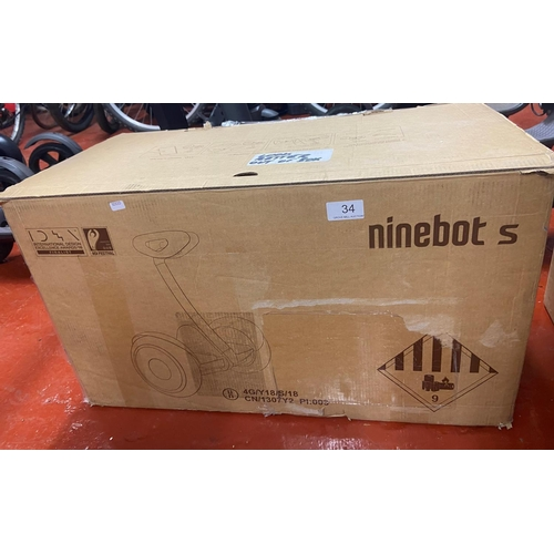 34 - BOXED SEGWAY NINEBOT S(A/F)