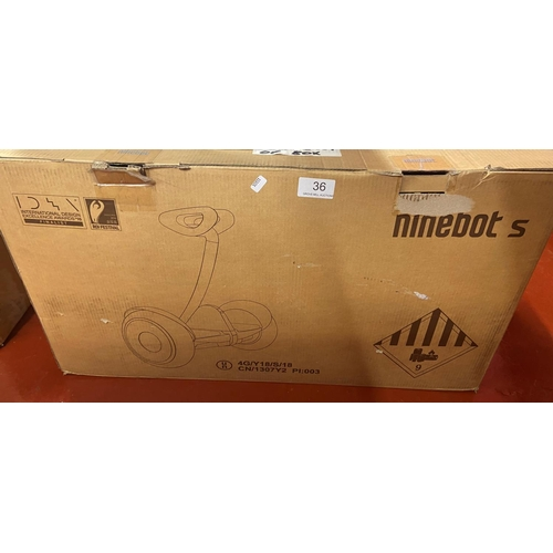 36 - BOXED SEGWAY NINEBOT S(A/F)