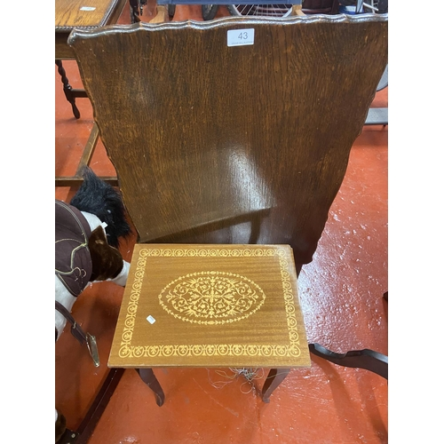 43 - FLIP TOP TABLE & MUSICAL SEWING TABLE
