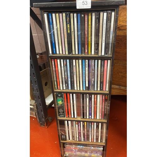 53 - CD HOLDER & CD'S