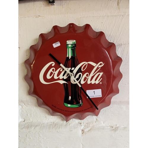 1 - 'COCA-COLA' CLOCK...