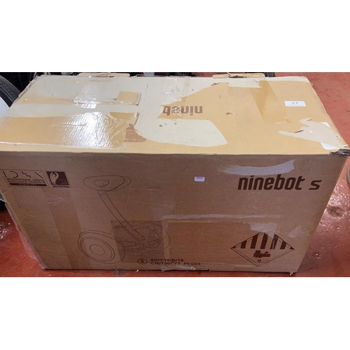 27 - BOXED NINEBOT S (A/F)...