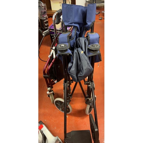 53 - WHEEL CHAIR AND MOBILITY WALKER...