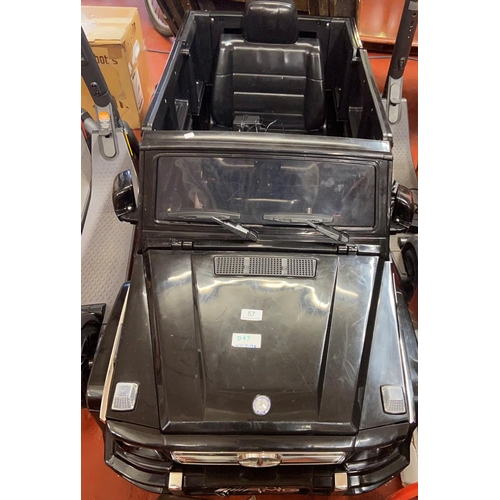57 - CHILDRENS 4x4 ELECTRIC JEEP (A/F)...