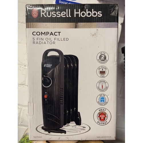10 - BOXED RUSSELL HOBBS COMPACT OIL FILLED RADIATOR(A/F)