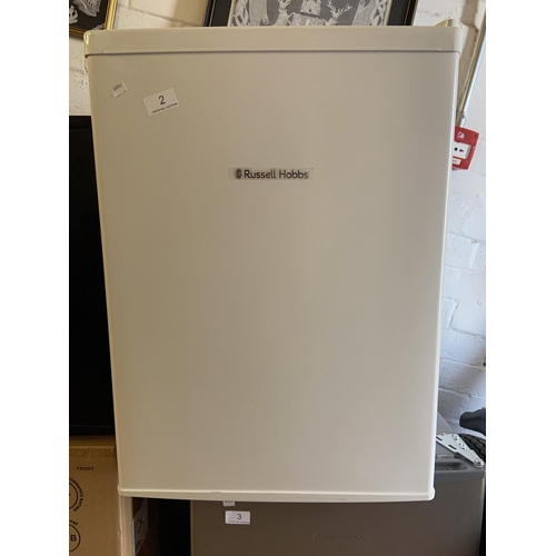 2 - RUSSELL HOBS FRIDGE (WHITE A/F)