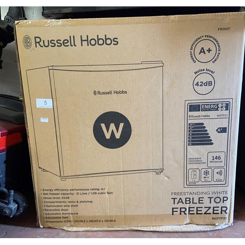 5 - BOXED RUSSELL HOBBS TABLE TOP FREEZER(A/F)