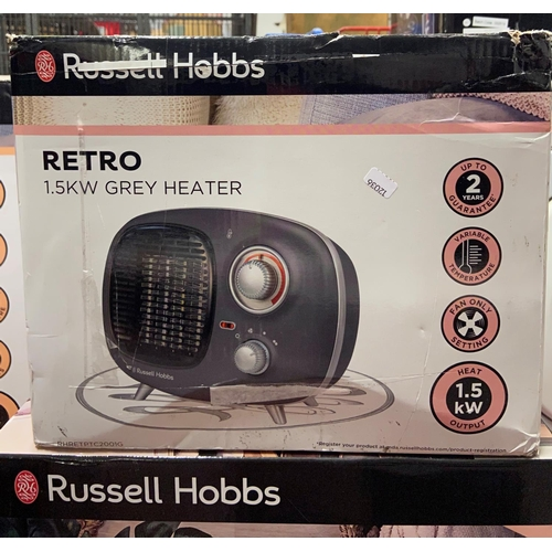 50 - BOXED RUSSELL HOBBS RETRO HEATER(A/F)