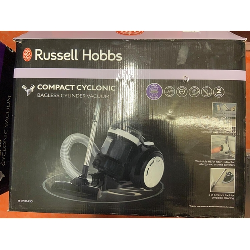 53 - BOXED RUSSELL HOBBS CYCLONIC VACUUM(A/F)