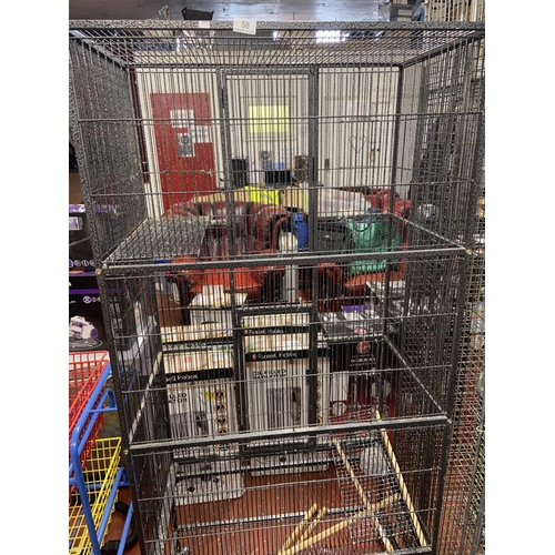 58 - LARGE CHINCHILLA/PARROT CAGE