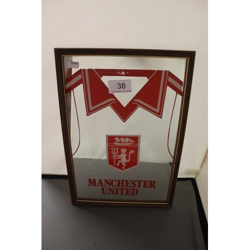 38 - SMALL'MANCHESTER UNITED' MIRROR