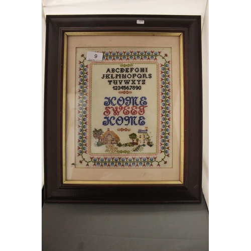 9 - VINTAGE FRAMED SAMPLER