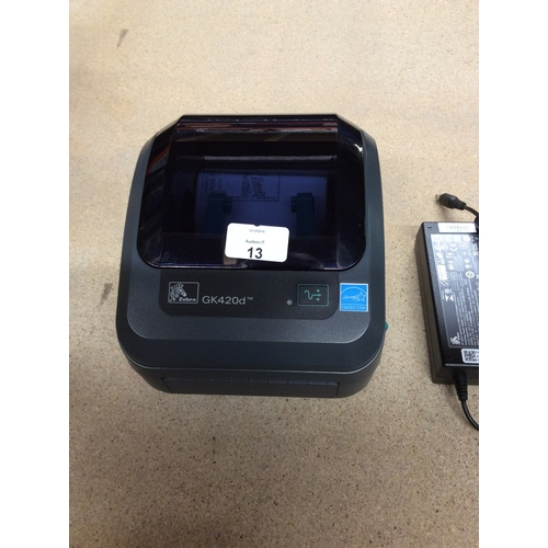 Zebra GK420d label printer with USB, Serial and parallel