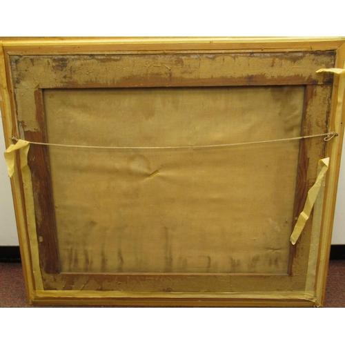 24 - Two framed tapestry pictures, viz. a Biblical scene 26