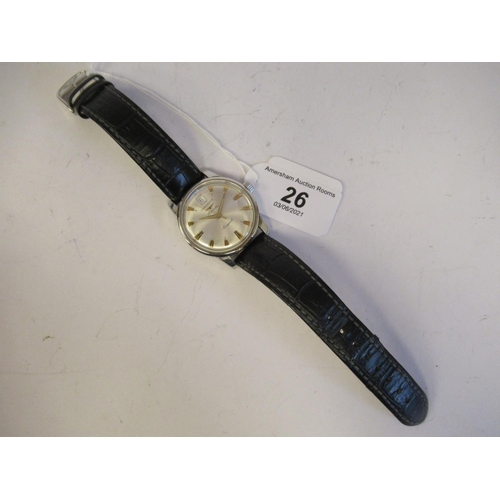 26 - A Longines Conquest stainless steel cased wristwatch, stamped L6114 & 33292676, the automatic mo...