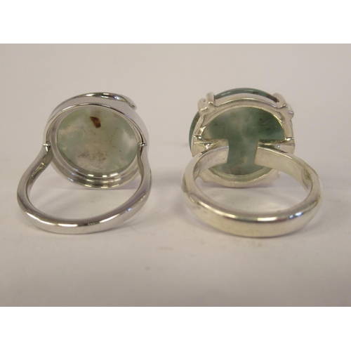 30 - Sterling silver mounted jewellery: to include a Coober Pedy opal and white topaz ring