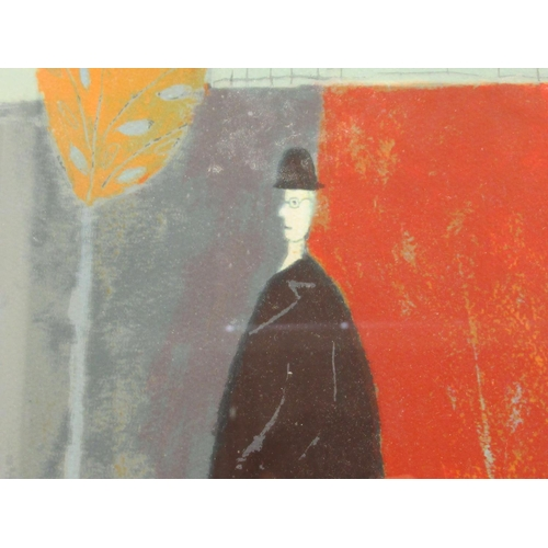 36 - Annora Spence - 'Walking the Pig' Limited Edition 104/250 coloured print bears a pencil inscription ...