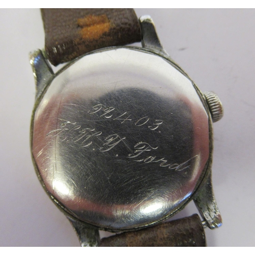 47 - A lady's Buren Grand Prix stainless steel cased wristwatch, faced by an Arabic dial, incorporating s...