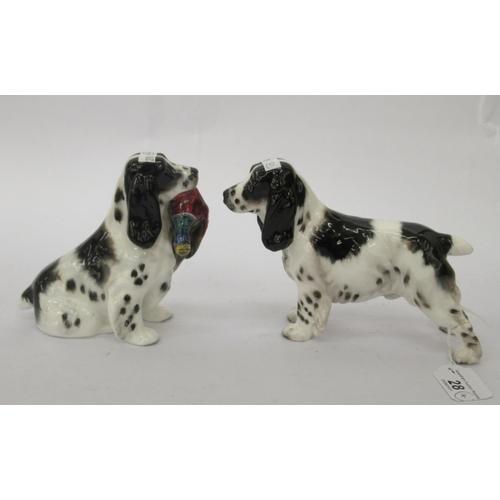 28 - Two Royal Doulton bone china model spaniels HN1109 & HN1138 5