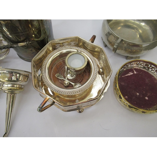 42 - Silver plated tableware: to include an oval, two part entrée dish 11