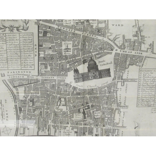 19 - A late 18thC uncoloured and unnamed map 'Farington within Barnard Castle' 12
