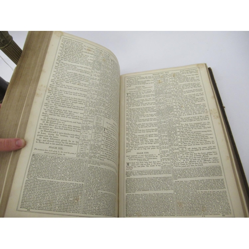 40 - A mixed lot: to include a 19thC family Bible; and a Patterson Lamps Ltd of Gateshead-on-Tyne miner's...