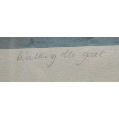 23 - Annora Spence - 'Walking the Goat' Limited Edition 209/250 coloured print bears a pencil inscription...