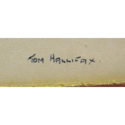 27 - Tom Halifax - 'Woman in long dress' pen & ink bears a signature 14