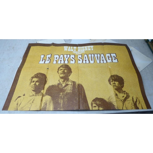 35 - Fourteen 'vintage' unframed French film related printed posters: to include 'Her Stances a Sophie' a...
