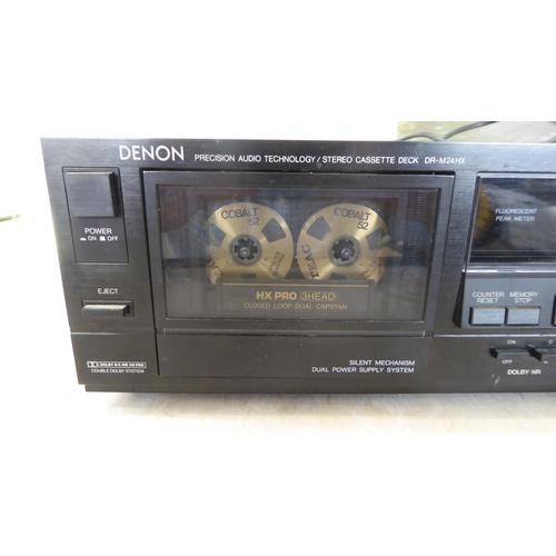 4 - A Denon Precision Audio Technology/Stereo Cassette Deck DR-M24HX