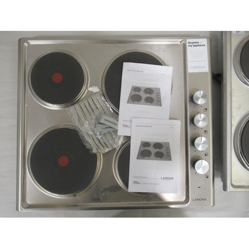 20 - Two 'as new' Lamona electric solid plate hob, model no. LAM1215 23