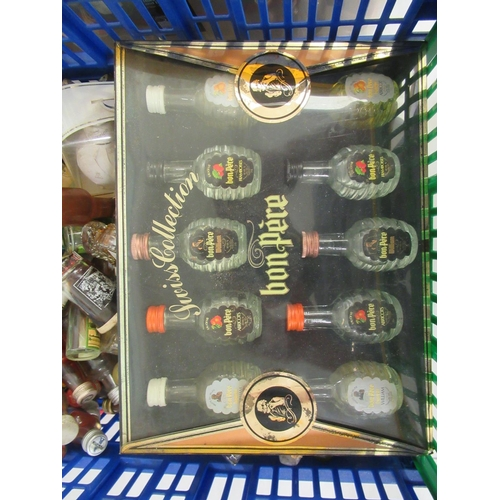 22 - Spirit miniatures: to include rum, bourbon and liqueurs